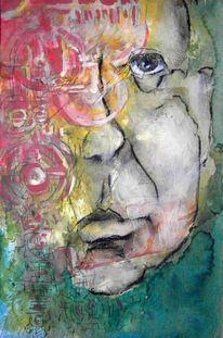 Abstrakt, Zeichnung, Gesicht, Portrait