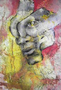 Portrait, Gesicht, Selbstportrait, Abstrakt