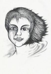 Portrait, Skizze, Bleistiftzeichnung, Gesicht