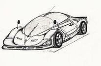 Schwarz, Rennwagen, Auto, Zukunft