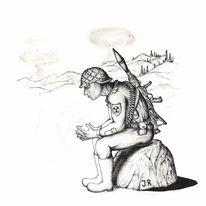 Skizze, Zeichnung, Rapitograph, Tusche