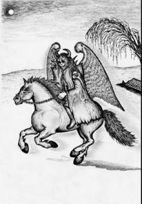 Apokalypse, Schwarz, Dämon, Pferde