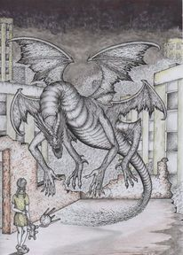 Rapidograph, Mythologie, Drache, Traum