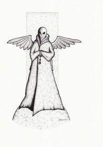 Schwarz, Flügel, Rapitograph, Religion
