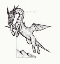Flügel, Zeichnung, Ungula, Dämon
