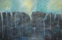 Struktur, Abgrund, Tropfen, Gemälde