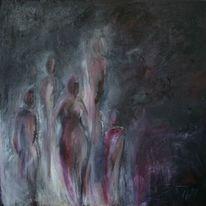 Verbrennen, Gruppe, Menschen, Im dunkeln