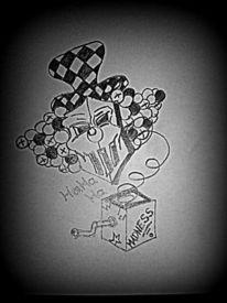 Zeichnungen, Surreal, Clown