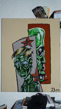 Mann, Acrylarbeit, Tod, Malerei