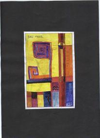 Abstrakte malerei, Meer