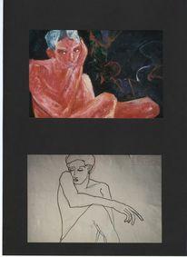 Expressionistische malerei, Akt