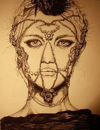 Gesicht, Zeichnung, Illustration, Realismus