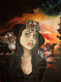 Realismus, Portrait, Gesicht, Illustration