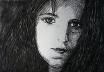 Schwarz, Gesicht, Portrait, Menschen