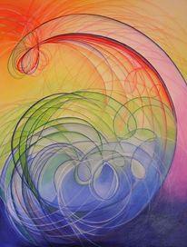 Acrylmalerei, Abstrakt, Malerei, Welle