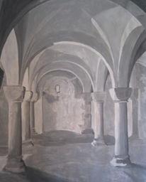 Malerei, Menschen, Kloster