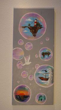 Veza, Acrylmalerei, Fantasie, Bubbles