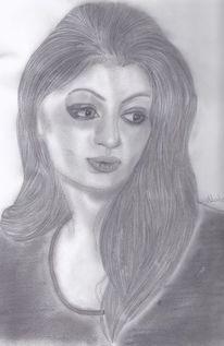 Portrait, Lange haare, Frau, Gesicht