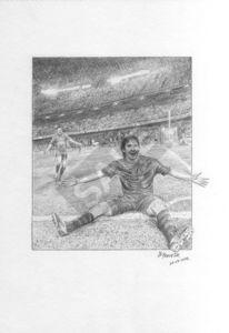 Lionel messi, Fußball, Barcelona, Bleistiftzeichnung