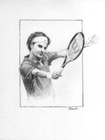 Federer, Portrait, Tennis, Sport