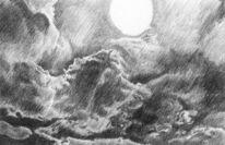 Szene, Sonne, Wolken, Zeichnungen