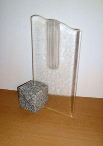 Glasvase, Glas, Fusingglas, Glasobjekt