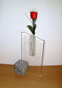 Fusingglas, Glasobjekt, Fusing, Glasvase
