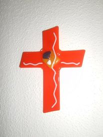 Glaskreuz, Kreuz, Glas, Fusing