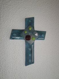 Kreuz, Glaskreuz, Glas, Fusing