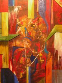 Menschen, Stadt, Abstrakt, Surreal