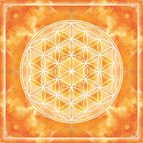 Blume des lebens, Acrylmalerei, Mandala, Malerei