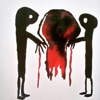 Menschen, Augen, Blut, Zeichnungen