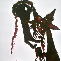 Hände, Blut, Menschen, Malerei