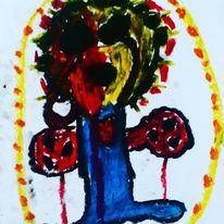 Mund, Hände, Herz, Malerei