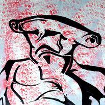 Hammer, Hai, Marker, Malerei