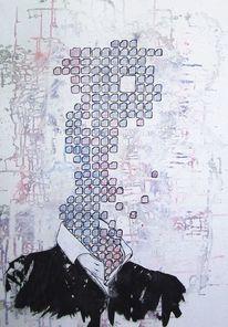 Anzug, Acrylmalerei, Portrait, Malerei