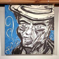 Gangster, Korn, Acrylmalerei, Marker