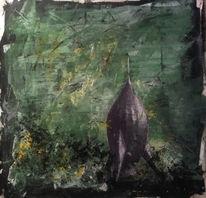 Rakete, Collage, Acrylmalerei, Malerei