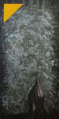 Rakete collage, Malerei, Acrylmalerei, Rakete