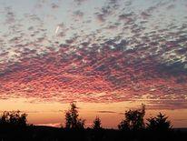 Wolken, Wolkenspiele, Sonnenuntergang, Bizarr