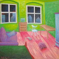 Berlin, Malerei, Surreal, Zimmer