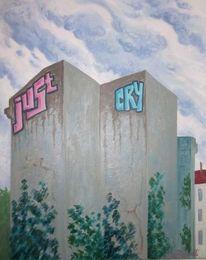 Berlin, Regen, Malerei