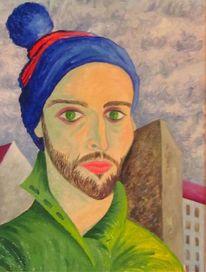 Selbstportrait, Berlin, Malerei, Portrait