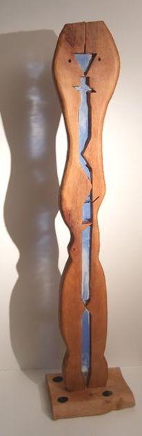 Installation, Holz, Skulptur, Metallskulptur