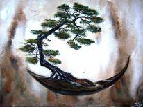 Baum, Gemälde, Malerei, Stuktur