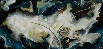 Collage, Acrylmalerei, Muschel, Gemälde