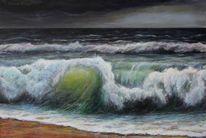 Welle, Acrylmalerei, Wasser, Malen