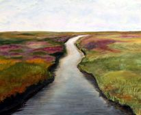 Norden, Wasser, Landschaft, Malerei