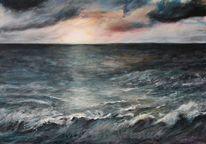 Wasser, Acrylmalerei, Sturm, Licht