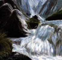 Wasser, Wasserrauschen, Bach, Landschaft